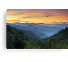 Smoky Mountains Sunrise - Great Smoky Mountains National Park Canvas Print