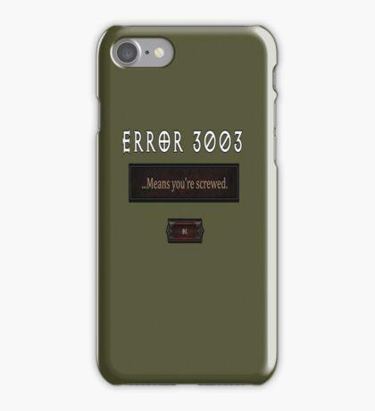 Error 3003 iPhone Case/Skin