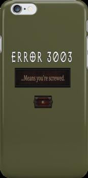 Error 3003 by Ameda Nowlin