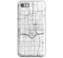 Oklahoma City Map Gray iPhone Case/Skin