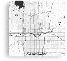 Oklahoma City Map Gray Canvas Print