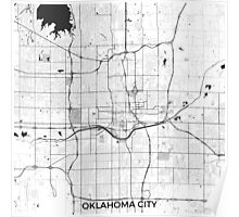 Oklahoma City Map Gray Poster