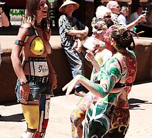 Taos Hippie Parade Talking it Up by doorfrontphotos