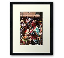 Taos Hippie Parade all Dressed Up Framed Print