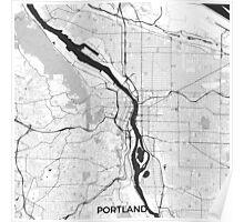 Portland Map Gray Poster