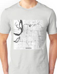 Memphis Map Gray Unisex T-Shirt