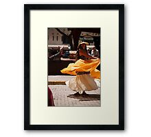 Taos Hippie Parade Dancing in Yellow Framed Print
