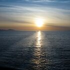 Sunset On The Straights Of Juan de Fuca by Ian Phares