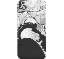 San Diego Map Gray iPhone Case/Skin