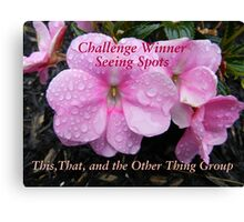 Challenge Winner - Seeing Spots Canvas Print
