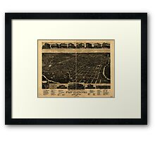 Panoramic Maps Fort Worth Tex ''The Queen of the Prairies'' county seat of Tarrant County 1886 Framed Print