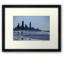 Gold Coast Stroll Framed Print