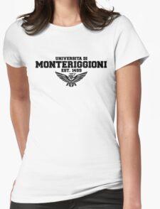Universita di Monteriggioni (Black) Womens Fitted T-Shirt