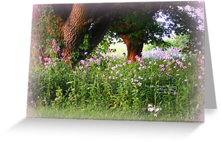Garden in May, Blue and Purple by TrendleEllwood