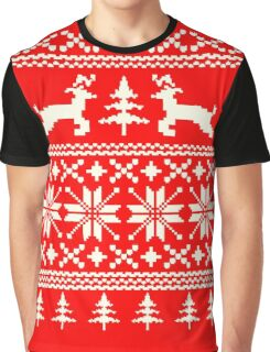 Ugly Xmas Shirt - Reindeer Graphic T-Shirt