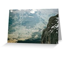 Grindelwald from inside Eiger Mouintain at 9400 level 19570922 0027  Greeting Card