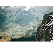 Grindelwald from inside Eiger Mouintain at 9400 level 19570922 0027  Photographic Print