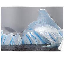 Bluebottle Iceberg , Antarctica Poster