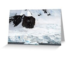Enormous scale , Antarctica Greeting Card