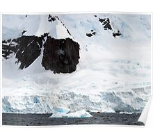Enormous scale , Antarctica Poster