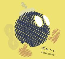 bob-omb -scribble- Kids Clothes