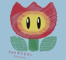 fire flower -scribble- Kids Tee