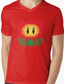 fire flower -scribble- Mens V-Neck T-Shirt
