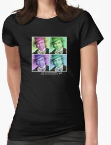Willy Wonka Warhol Womens Fitted T-Shirt