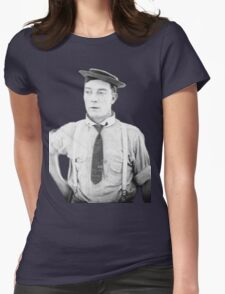 oh buster .  Womens Fitted T-Shirt