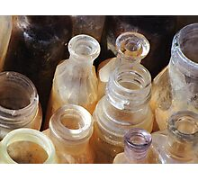 Amber Bottles Photographic Print