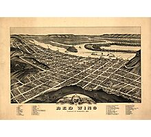 Panoramic Maps view of the city of Red Wing Goddhue sic Co Minnesota 1880 Photographic Print