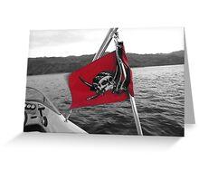 Pirate Flag Greeting Card