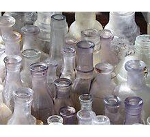 Purple Bottles Photographic Print