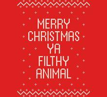 Ugly Xmas Shirt – You Filthy Animal Unisex T-Shirt