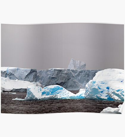 Icebergs,  Antarctica Poster
