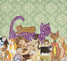 Cute Cat Collage by kewzoo