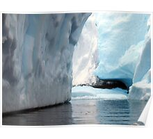 Iceberg shades, Antarctica Poster