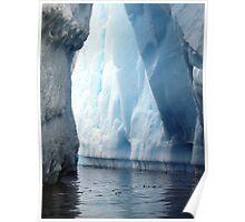 Iceberg walls , Antarctica  Poster