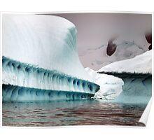 Sculptural iceberg , Antarctica Poster