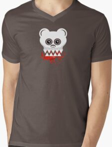 BEAR SKULL Mens V-Neck T-Shirt