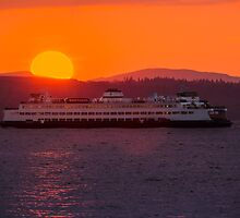 Sunset from Edmonds by Jim Stiles