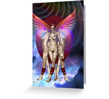 BROKEN HEARTED ~ HIGHER REALM BOUND Greeting Card