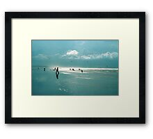 A day of Silhouettes Framed Print