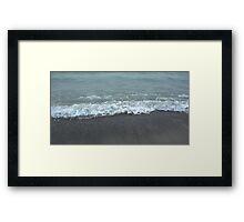 Waves Rush Digital Photo By Cheyene Montana Lopez Framed Print