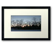 Winter's Sunset Digital Photo By Cheyene Montana Lopez Framed Print