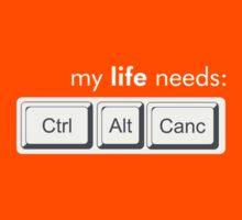 My life needs ctrl alt canc by DarioRigon