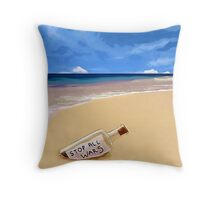 Message in the bottle Throw Pillow