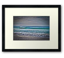 Apollo Bay Wave - HDR Framed Print