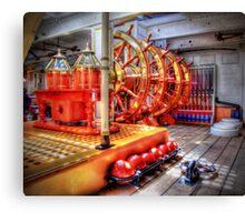 The Helm Below Decks HMS Warrior - HDR Canvas Print