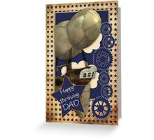 Steampunk Dad Birthday Card Greeting Card